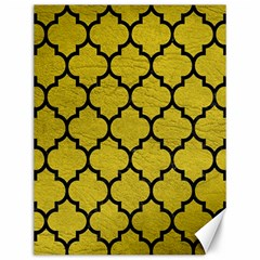 Tile1 Black Marble & Yellow Leather Canvas 12  X 16