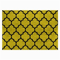 Tile1 Black Marble & Yellow Leather Large Glasses Cloth