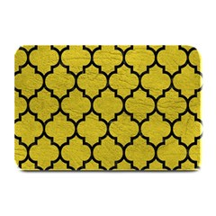 Tile1 Black Marble & Yellow Leather Plate Mats