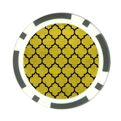 Tile1 Black Marble & Yellow Leather Poker Chip Card Guard