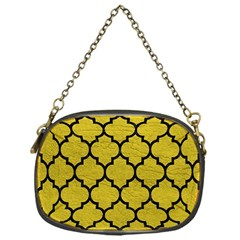 Tile1 Black Marble & Yellow Leather Chain Purses (one Side)