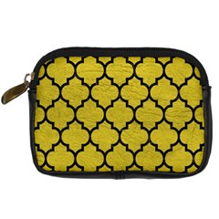 Tile1 Black Marble & Yellow Leather Digital Camera Cases
