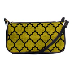 Tile1 Black Marble & Yellow Leather Shoulder Clutch Bags