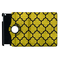 Tile1 Black Marble & Yellow Leather Apple Ipad 2 Flip 360 Case