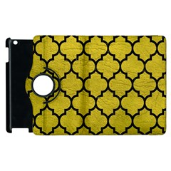Tile1 Black Marble & Yellow Leather Apple Ipad 3/4 Flip 360 Case