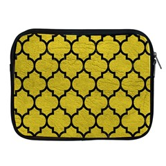 Tile1 Black Marble & Yellow Leather Apple Ipad 2/3/4 Zipper Cases