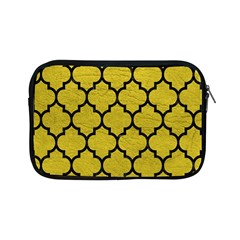 Tile1 Black Marble & Yellow Leather Apple Ipad Mini Zipper Cases
