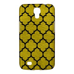 Tile1 Black Marble & Yellow Leather Samsung Galaxy Mega 6 3  I9200 Hardshell Case