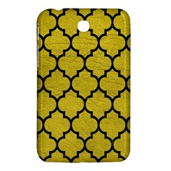 Tile1 Black Marble & Yellow Leather Samsung Galaxy Tab 3 (7 ) P3200 Hardshell Case