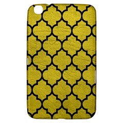 Tile1 Black Marble & Yellow Leather Samsung Galaxy Tab 3 (8 ) T3100 Hardshell Case
