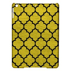 Tile1 Black Marble & Yellow Leather Ipad Air Hardshell Cases