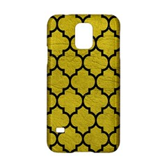 Tile1 Black Marble & Yellow Leather Samsung Galaxy S5 Hardshell Case