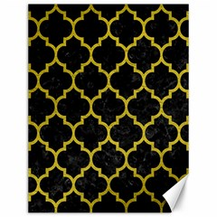 Tile1 Black Marble & Yellow Leather (r) Canvas 12  X 16