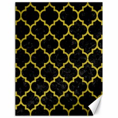 Tile1 Black Marble & Yellow Leather (r) Canvas 18  X 24