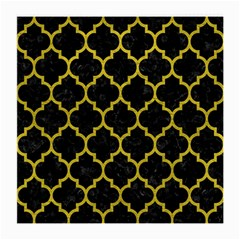 Tile1 Black Marble & Yellow Leather (r) Medium Glasses Cloth