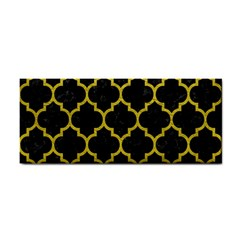 Tile1 Black Marble & Yellow Leather (r) Cosmetic Storage Cases