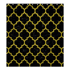 Tile1 Black Marble & Yellow Leather (r) Shower Curtain 66  X 72  (large)