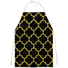 Tile1 Black Marble & Yellow Leather (r) Full Print Aprons
