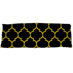 Tile1 Black Marble & Yellow Leather (r) Body Pillow Case Dakimakura (two Sides)