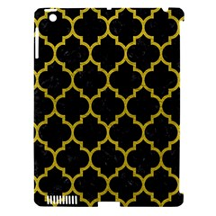 Tile1 Black Marble & Yellow Leather (r) Apple Ipad 3/4 Hardshell Case (compatible With Smart Cover)