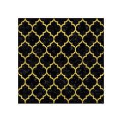 Tile1 Black Marble & Yellow Leather (r) Acrylic Tangram Puzzle (4  X 4 )