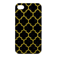 Tile1 Black Marble & Yellow Leather (r) Apple Iphone 4/4s Premium Hardshell Case