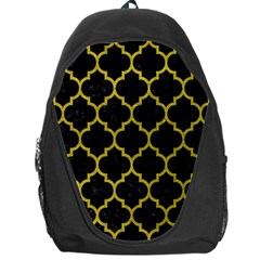 Tile1 Black Marble & Yellow Leather (r) Backpack Bag