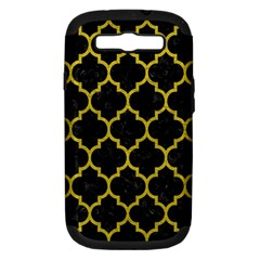 Tile1 Black Marble & Yellow Leather (r) Samsung Galaxy S Iii Hardshell Case (pc+silicone)