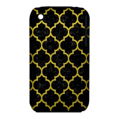 Tile1 Black Marble & Yellow Leather (r) Iphone 3s/3gs