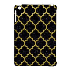 Tile1 Black Marble & Yellow Leather (r) Apple Ipad Mini Hardshell Case (compatible With Smart Cover)