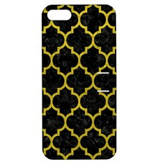 Tile1 Black Marble & Yellow Leather (r) Apple Iphone 5 Hardshell Case With Stand