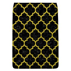 Tile1 Black Marble & Yellow Leather (r) Flap Covers (l)