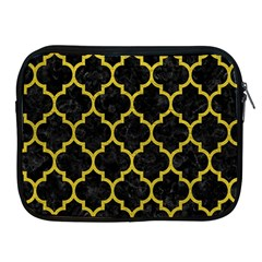 Tile1 Black Marble & Yellow Leather (r) Apple Ipad 2/3/4 Zipper Cases