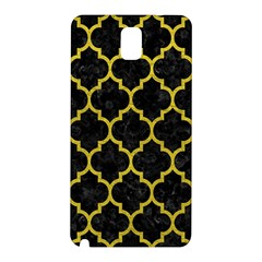 Tile1 Black Marble & Yellow Leather (r) Samsung Galaxy Note 3 N9005 Hardshell Back Case