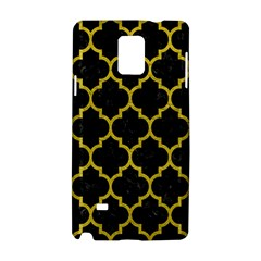 Tile1 Black Marble & Yellow Leather (r) Samsung Galaxy Note 4 Hardshell Case