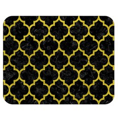 Tile1 Black Marble & Yellow Leather (r) Double Sided Flano Blanket (medium)