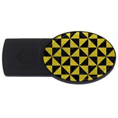 Triangle1 Black Marble & Yellow Leather Usb Flash Drive Oval (2 Gb)