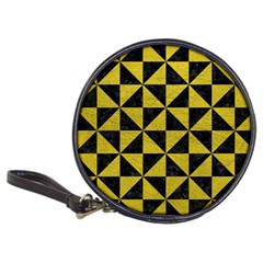 Triangle1 Black Marble & Yellow Leather Classic 20 Cd Wallets
