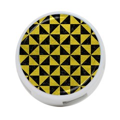 Triangle1 Black Marble & Yellow Leather 4 Port Usb Hub (one Side)