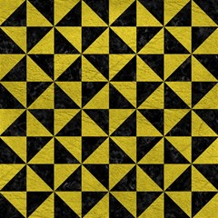 Triangle1 Black Marble & Yellow Leather Magic Photo Cubes