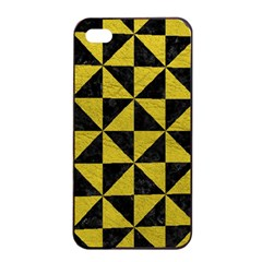 Triangle1 Black Marble & Yellow Leather Apple Iphone 4/4s Seamless Case (black)