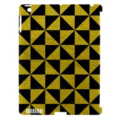 Triangle1 Black Marble & Yellow Leather Apple Ipad 3/4 Hardshell Case (compatible With Smart Cover)