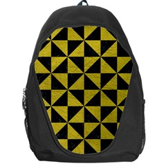 Triangle1 Black Marble & Yellow Leather Backpack Bag