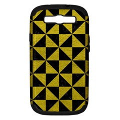 Triangle1 Black Marble & Yellow Leather Samsung Galaxy S Iii Hardshell Case (pc+silicone)