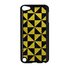 Triangle1 Black Marble & Yellow Leather Apple Ipod Touch 5 Case (black)