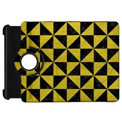 Triangle1 Black Marble & Yellow Leather Kindle Fire Hd 7