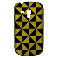 Triangle1 Black Marble & Yellow Leather Galaxy S3 Mini