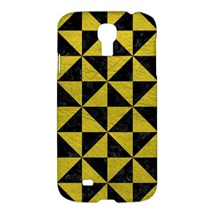 Triangle1 Black Marble & Yellow Leather Samsung Galaxy S4 I9500/i9505 Hardshell Case