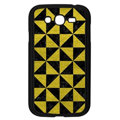 Triangle1 Black Marble & Yellow Leather Samsung Galaxy Grand Duos I9082 Case (black)