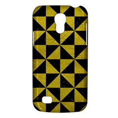Triangle1 Black Marble & Yellow Leather Galaxy S4 Mini
